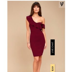 Lulus off the shoulder bodycon midi dress